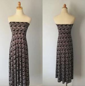 Lularoe long maxi skirt Hazy purple geometric